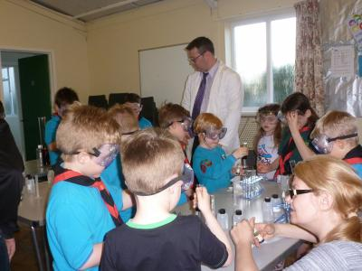Beavers group lessons in scout hall