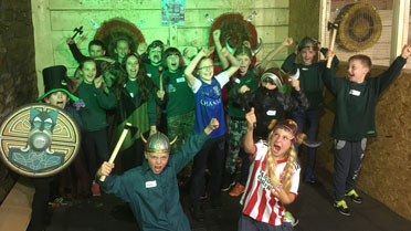 Group with Battleaxe swords and shields