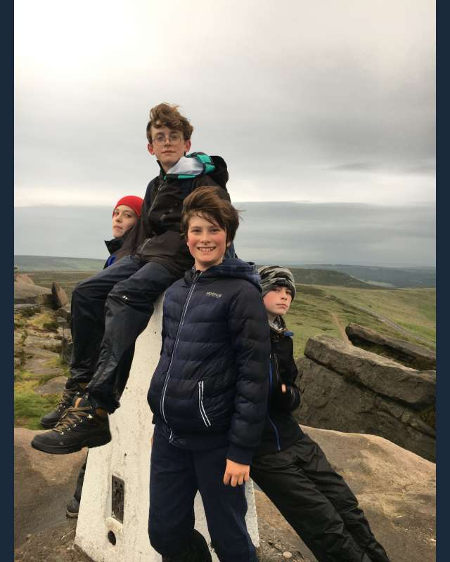 Four scouts at trig point
