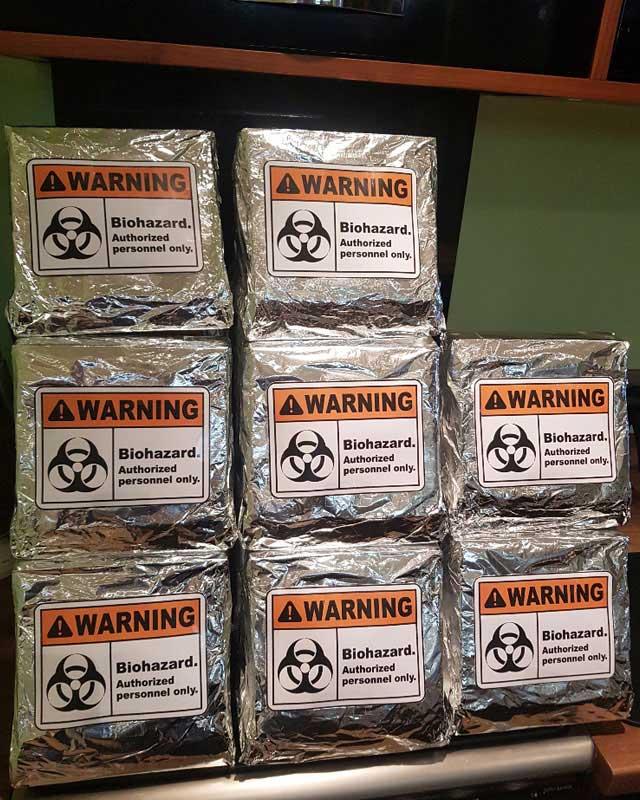scouts Astronautics badge bio hazard bags