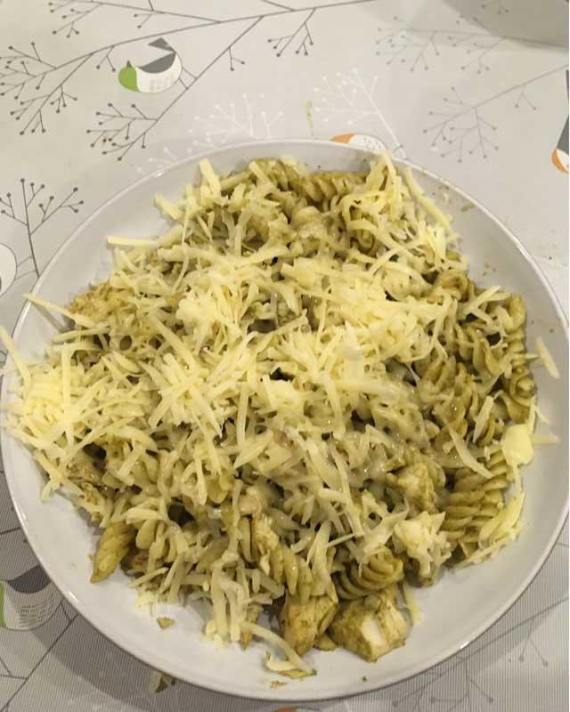 scouts chef pesto pasta