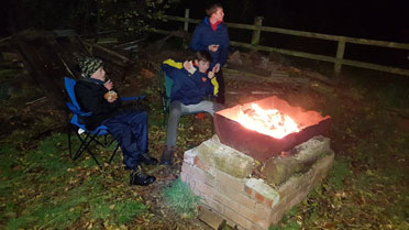 scouts open fire cooking
