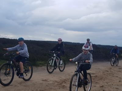 Mountain biking track roads